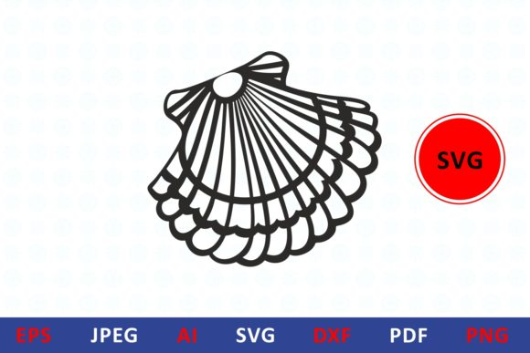 Download Free Seashell Icon Graphic By Millerzoa Creative Fabrica for Cricut Explore, Silhouette and other cutting machines.