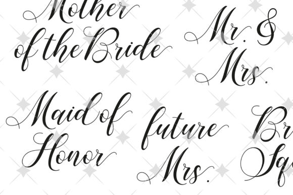 Download Free Set Of Bridal Wedding Cricut Files Graphic By Maddyz Creative for Cricut Explore, Silhouette and other cutting machines.