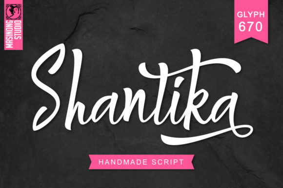 Download Free Shantika Font By Masinong Creative Fabrica for Cricut Explore, Silhouette and other cutting machines.