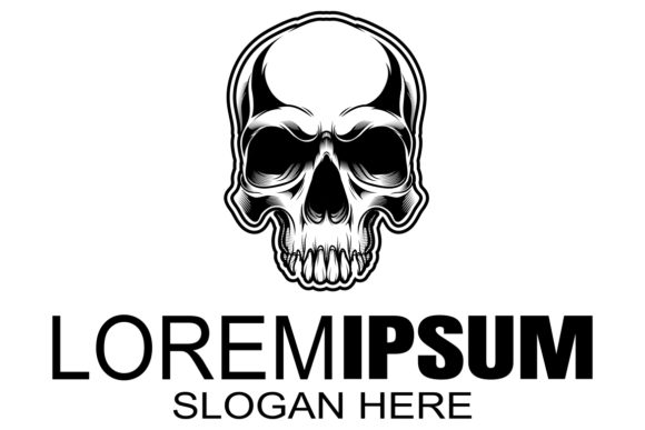Download Free Skull Logo Icon Or Skull Illustration Graphic By Epic Graphic for Cricut Explore, Silhouette and other cutting machines.