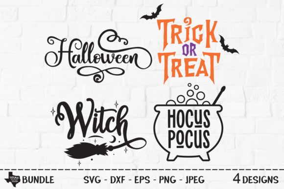 Download Free Spooky Halloween Bundle Graphic By Texassoutherncuts Creative for Cricut Explore, Silhouette and other cutting machines.