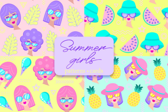 Download Free Summer Girls Graphic By Fatamorganaoptic Creative Fabrica for Cricut Explore, Silhouette and other cutting machines.