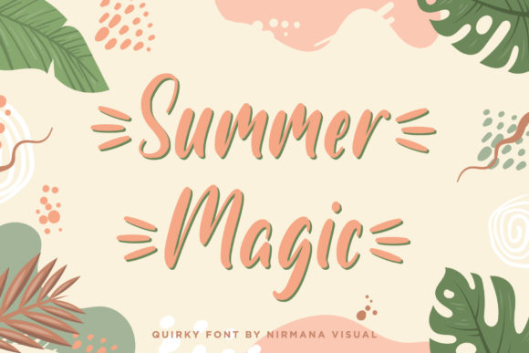 Print on Demand: Summer Magic Display Schriftarten von Sigit Dwipa