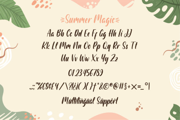 Print on Demand: Summer Magic Display Font By Sigit Dwipa - Image 3