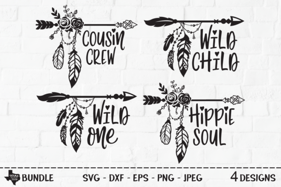 Download Free Tribal Arrow Bundle Outdoor Designs Graphic By for Cricut Explore, Silhouette and other cutting machines.
