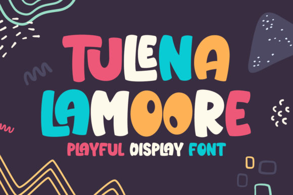 Print on Demand: Tulena Lamoore Display Font By creakokunstudio