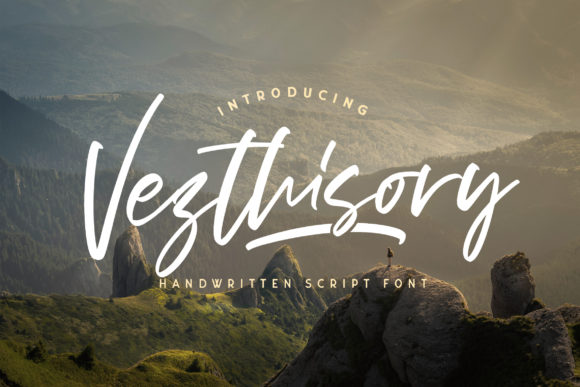 Print on Demand: Vezthisory Script & Handwritten Font By StringLabs