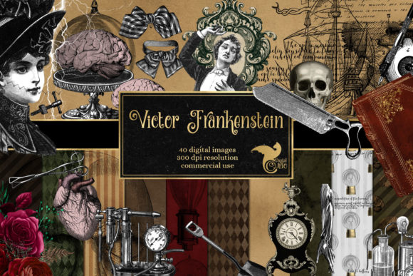 Print on Demand: Victor Frankenstein Graphics Graphic Illustrations By Digital Curio