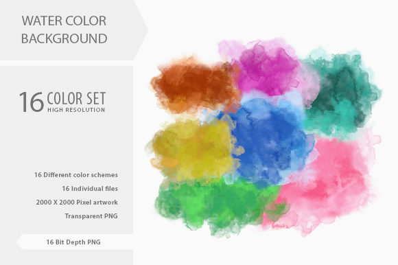 Download Free Water Color Background 16 Color Schemes Graphic By Grapict for Cricut Explore, Silhouette and other cutting machines.