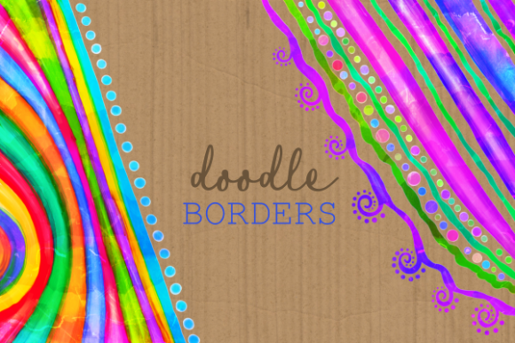 Download Free Watercolor Ink Decorative Doodle Borders Graphic By Prawny for Cricut Explore, Silhouette and other cutting machines.
