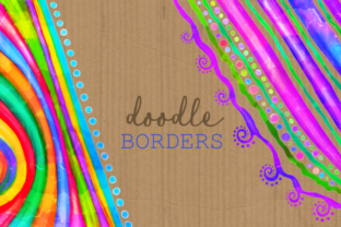 Print on Demand: Watercolor Ink Decorative Doodle Borders Graphic Crafts By Prawny