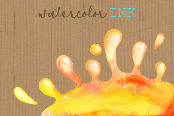 Print on Demand: Watercolor Ink Paint Splatter Borders Graphic Crafts By Prawny - Image 2