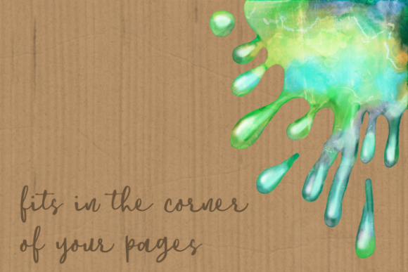 Print on Demand: Watercolor Ink Paint Splatter Borders Graphic Crafts By Prawny - Image 3