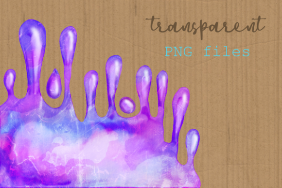 Print on Demand: Watercolor Ink Paint Splatter Borders Graphic Crafts By Prawny - Image 6