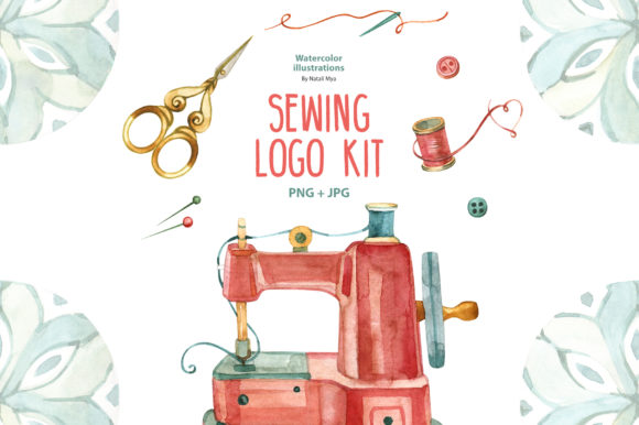 Download Free 2 Sewing Machine Png Designs Graphics for Cricut Explore, Silhouette and other cutting machines.