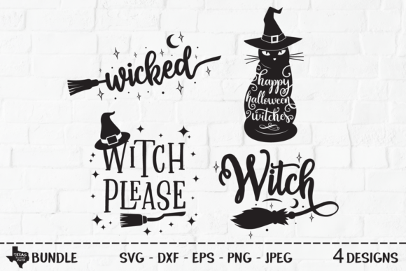 Download Free Wicked Witch Bundle Graphic By Texassoutherncuts Creative Fabrica for Cricut Explore, Silhouette and other cutting machines.