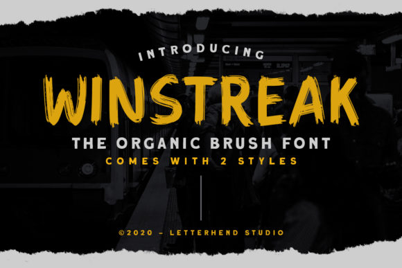 Print on Demand: Winstreak Display Font By letterhend