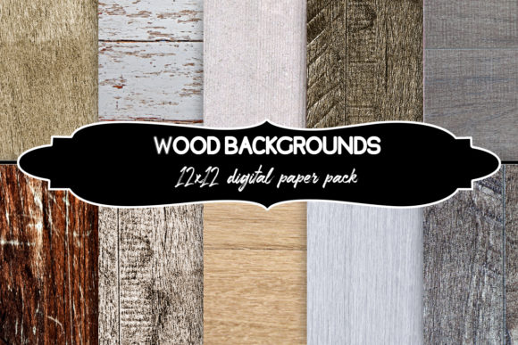 Download Free Wood Background Graphic Set Graphic By A Design In Time for Cricut Explore, Silhouette and other cutting machines.