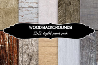 Print on Demand: Wood Background Graphic Set Grafik Hintegründe von A Design in Time