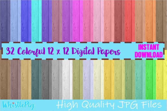 Print on Demand: Wood Pattern Digital Paper Graphic Patterns By Whistlepig Designs