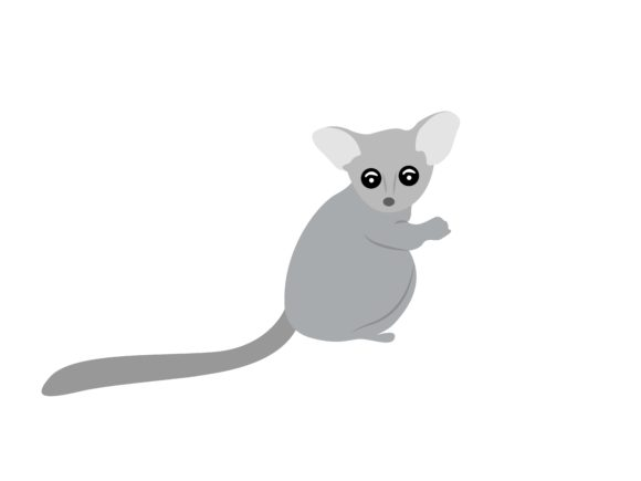 Download Free Cute Slow Loris Animal Graphic By Archshape Creative Fabrica for Cricut Explore, Silhouette and other cutting machines.