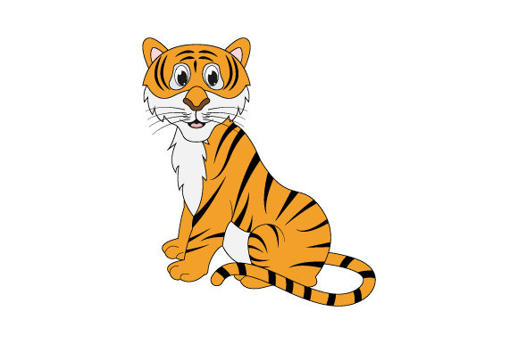 Print on Demand: Cute Tiger Graphic Illustrations By curutdesign