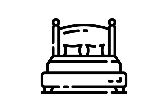 Print on Demand: Double Bed Graphic Icons By khld939