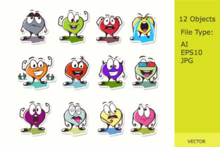 Download Free Emotion Stickers On Covers Vector Graphic By Roman24one for Cricut Explore, Silhouette and other cutting machines.