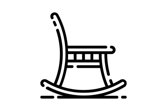 Print on Demand: Rocking Chair Graphic Icons By khld939