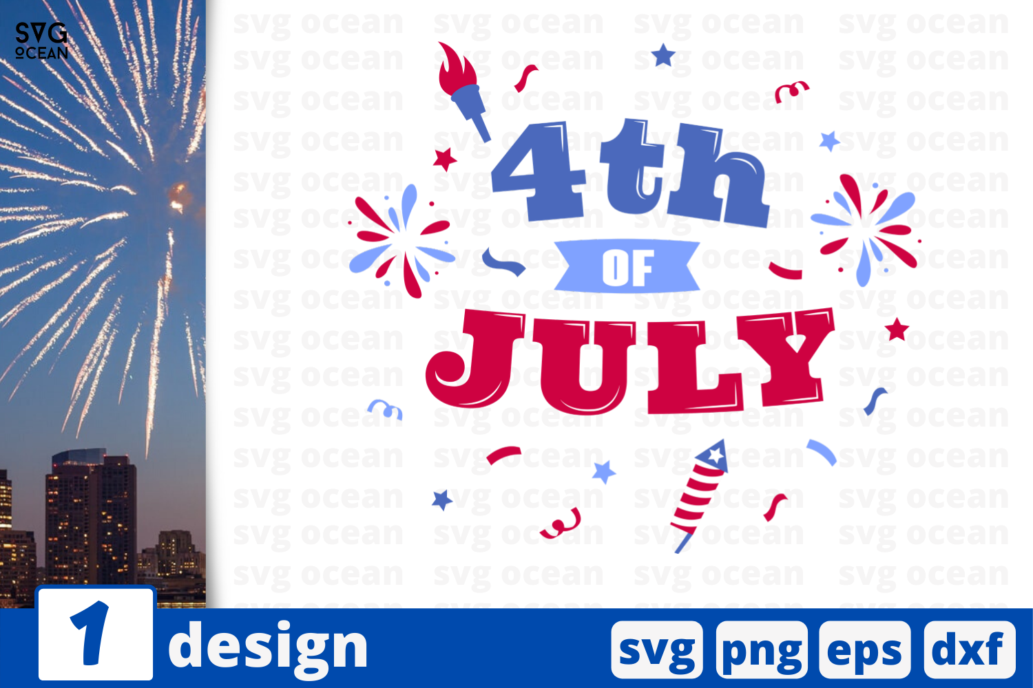 Download Free 4th Of July Graphic By Svgocean Creative Fabrica for Cricut Explore, Silhouette and other cutting machines.