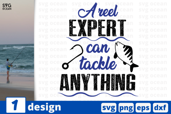 Download Free Reel Expert Graphic By Svgocean Creative Fabrica for Cricut Explore, Silhouette and other cutting machines.