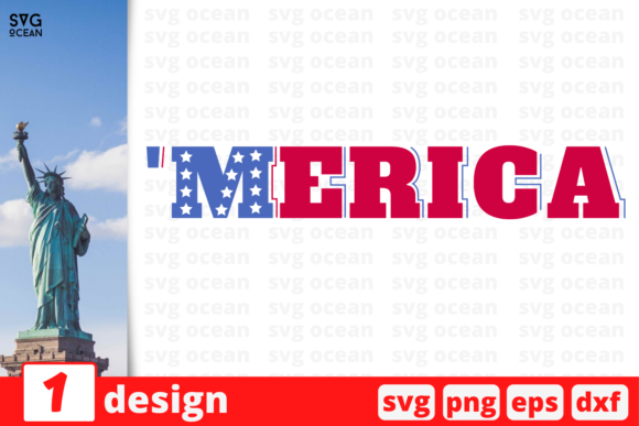 Download Free Merica Graphic By Svgocean Creative Fabrica for Cricut Explore, Silhouette and other cutting machines.