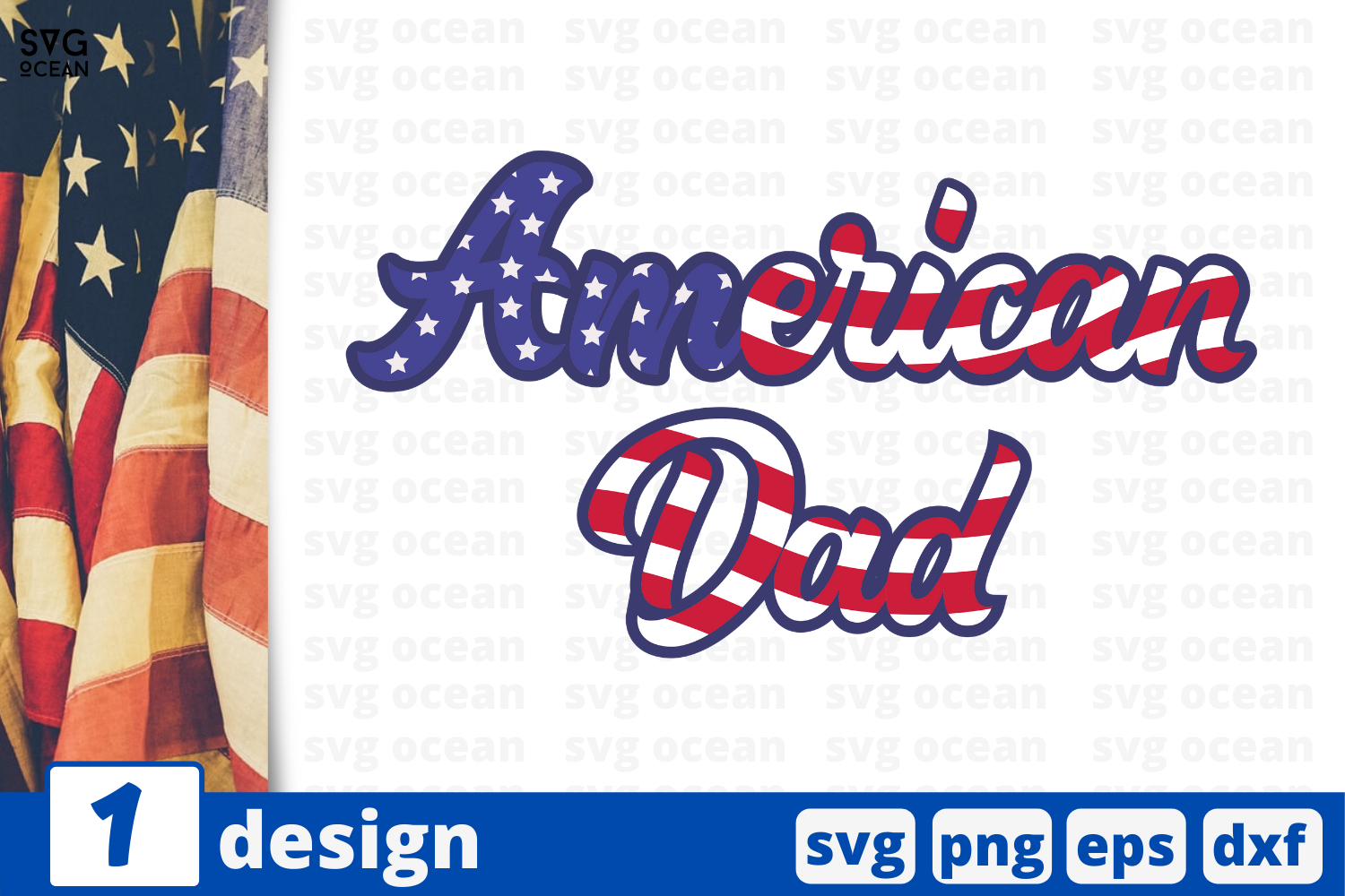 Download Free American Dad Graphic By Svgocean Creative Fabrica for Cricut Explore, Silhouette and other cutting machines.
