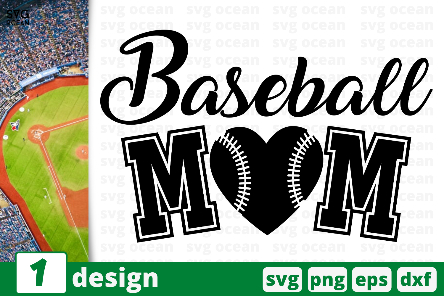 Download Free Baseball Mom Graphic By Svgocean Creative Fabrica for Cricut Explore, Silhouette and other cutting machines.