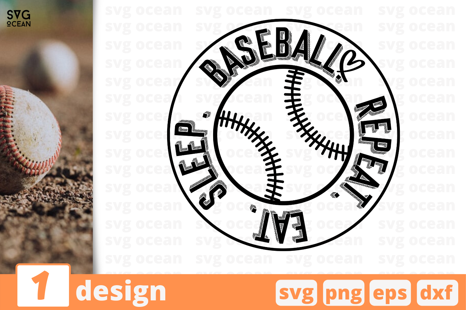 Download Free Baseball Sleep Eat Repeat Graphic By Svgocean Creative Fabrica for Cricut Explore, Silhouette and other cutting machines.