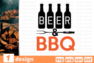 Download Free Beer And Bbq Graphic By Svgocean Creative Fabrica for Cricut Explore, Silhouette and other cutting machines.