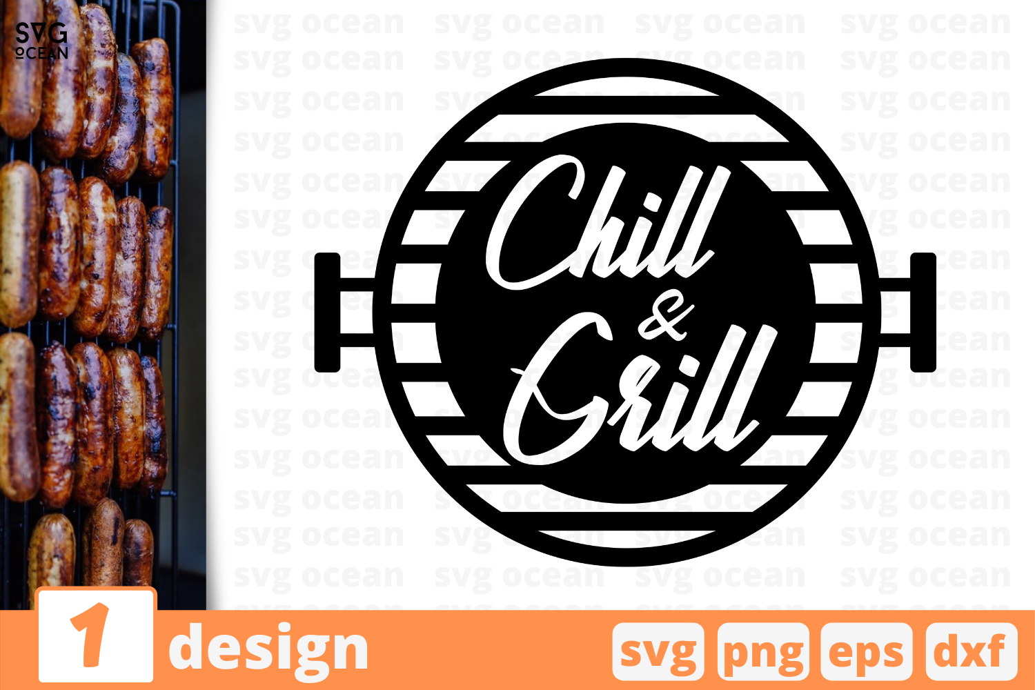 Download Free Chill And Grill Graphic By Svgocean Creative Fabrica for Cricut Explore, Silhouette and other cutting machines.