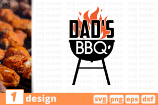 Download Free Dad S Bbq Graphic By Svgocean Creative Fabrica for Cricut Explore, Silhouette and other cutting machines.