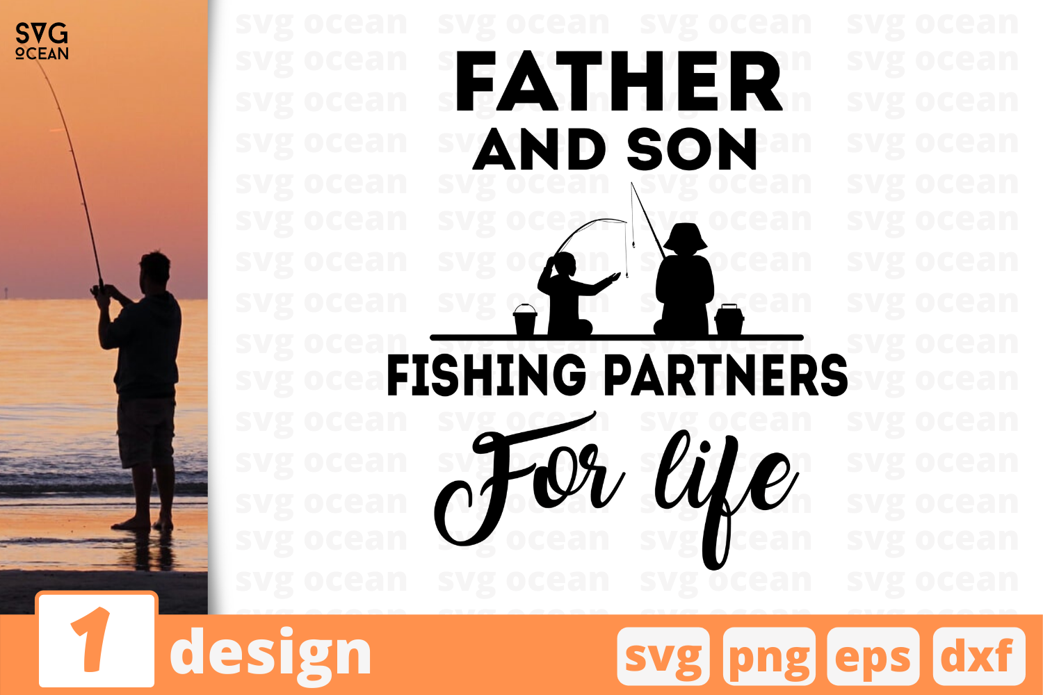 Download Free Father Son Fishing Partners Graphic By Svgocean Creative Fabrica for Cricut Explore, Silhouette and other cutting machines.