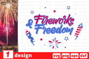 Download Free 1 Fireworks And Freedom Bundle Graphic By Svgocean Creative for Cricut Explore, Silhouette and other cutting machines.