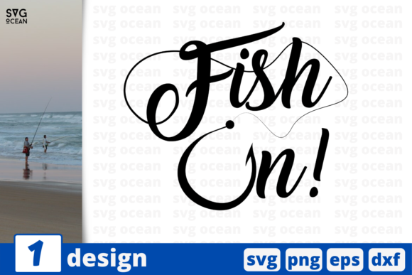 Download Free Fish On Graphic By Svgocean Creative Fabrica for Cricut Explore, Silhouette and other cutting machines.
