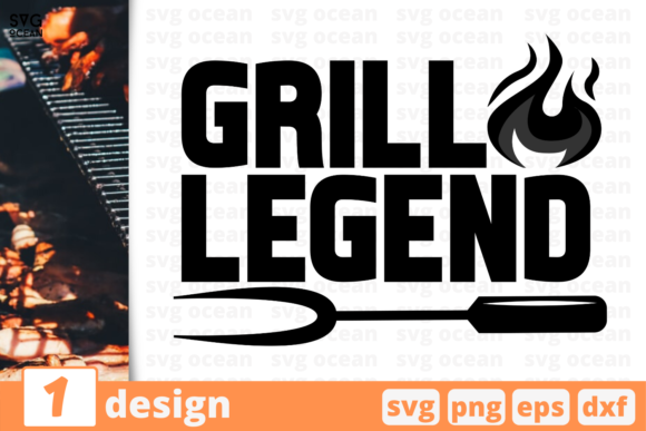 Download Free Grill Legend Graphic By Svgocean Creative Fabrica for Cricut Explore, Silhouette and other cutting machines.