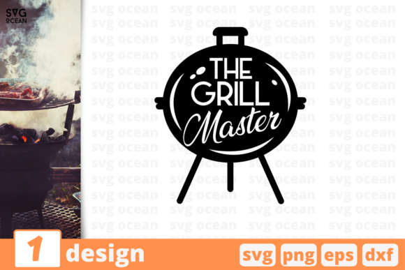Download Free Grill Master Graphic By Svgocean Creative Fabrica for Cricut Explore, Silhouette and other cutting machines.