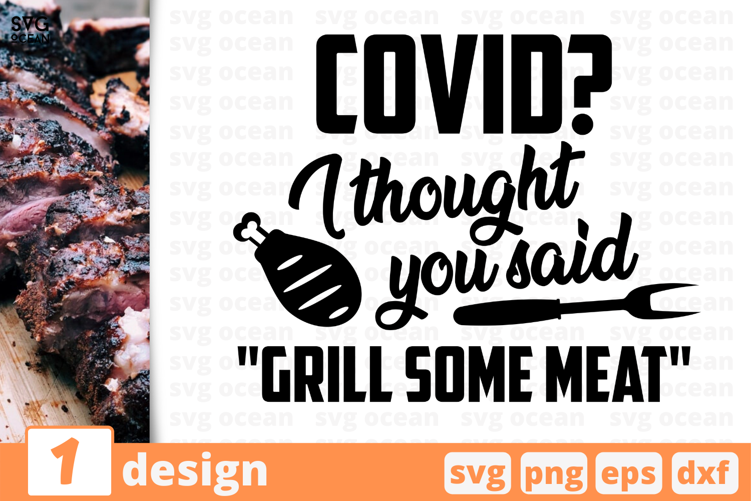 Download Free Grill Some Meat Graphic By Svgocean Creative Fabrica for Cricut Explore, Silhouette and other cutting machines.