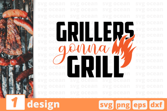 Download Free Grillers Gonna Grill Graphic By Svgocean Creative Fabrica for Cricut Explore, Silhouette and other cutting machines.