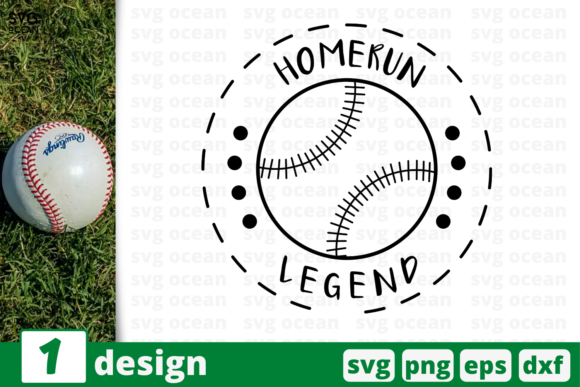Download Free Homerun Legend Graphic By Svgocean Creative Fabrica for Cricut Explore, Silhouette and other cutting machines.