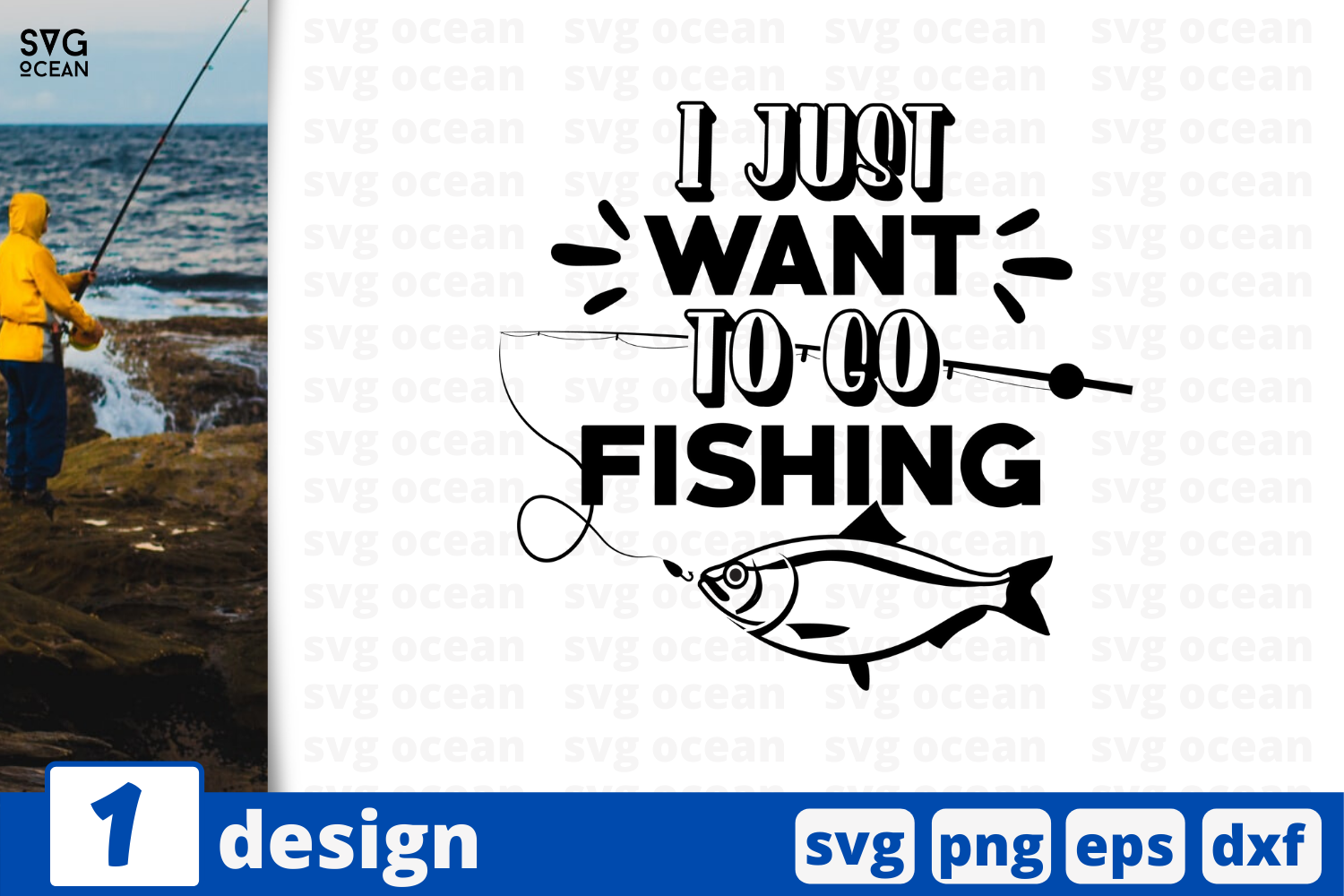 Download Free I Just Want To Go Fishing Graphic By Svgocean Creative Fabrica for Cricut Explore, Silhouette and other cutting machines.