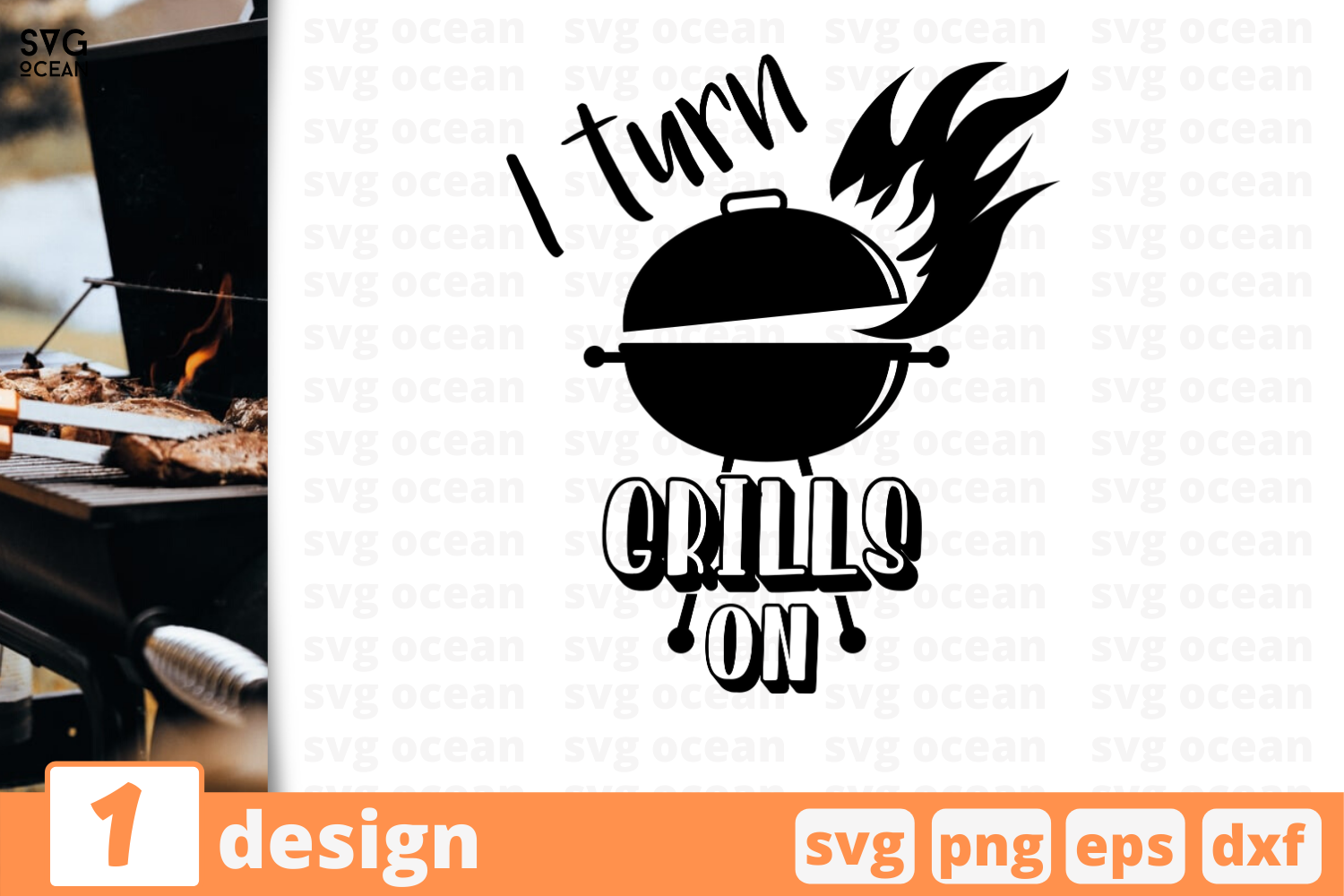 Download Free I Turn Grills On Graphic By Svgocean Creative Fabrica for Cricut Explore, Silhouette and other cutting machines.