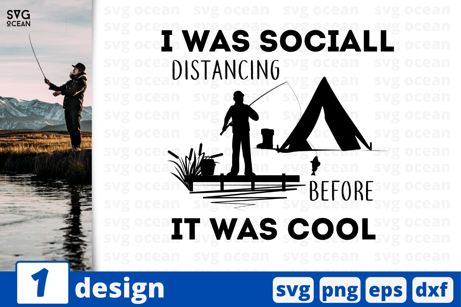 Download Free I Was Social Distancing Before Graphic By Svgocean Creative for Cricut Explore, Silhouette and other cutting machines.