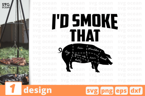 Download Free I D Smoke That Graphic By Svgocean Creative Fabrica for Cricut Explore, Silhouette and other cutting machines.